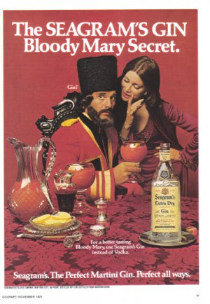 1975 SEAGRAM'S GIN Vintage Print Ad