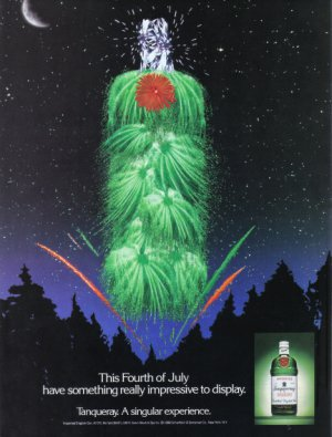 1988 TANQUERAY GIN Vintage Print Ad