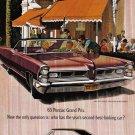 1965 PONTIAC GRAND PRIX Vintage Auto Print Ad