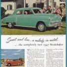 1947 STUDEBAKER Vintage Auto Print Ad