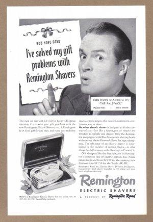 1948 BOB HOPE Remington Shaver Vintage Print Ad
