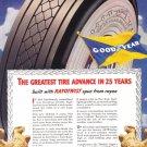 1938 GOODYEAR TIRES Vintage Print Ad