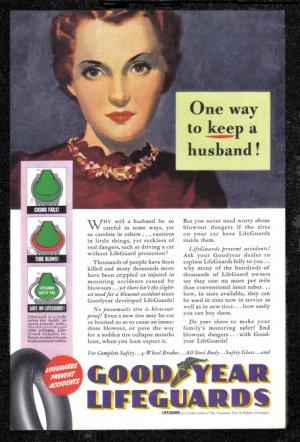 1940 GOODYEAR TIRES Vintage Print Ad