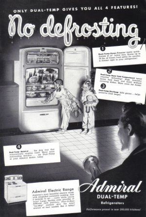 1948 ADMIRAL FREEZER Vintage Print Ad