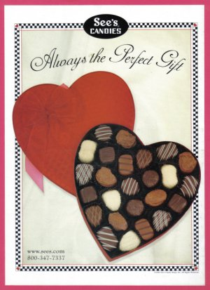 SEE'S CANDIES 2002 Magazine Color Print Ad