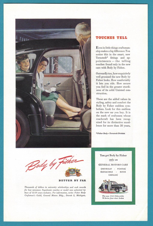 1946 OLDSMOBILE'78 Vintage Auto Print Ad