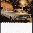 1964 PONTIAC Bonneville Auto Vintage Print Ad