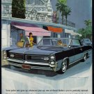 1964 PONTIAC Grand Prix Auto Vintage Print Ad