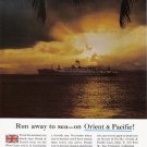 1960 Orient Pacific Cruise Line Vintage Print Ad