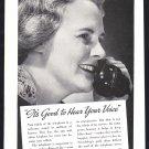 1937 BELL Telephone Vintage Print Ad