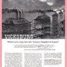 1960 SINCLAIR OIL Vicksburg Vintage Print Ad