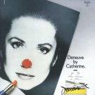 1987 Catherine Deneuve Perfume Magazine Print Ad