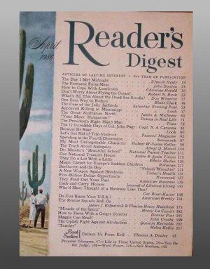 1956 READER'S DIGEST April Issue Magazine