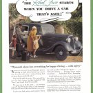 1934 PLYMOUTH Auto Vintage Print Advertisement