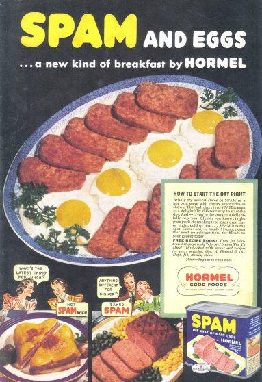 1939 SPAM Hormel Ham Vintage Print Advertisement