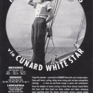 1939 CUNARD White Star Line Vintage Advertisement