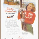 1946 QUEBEC Canada Travel Vintage Advertisement