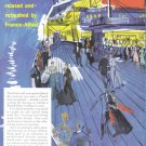 1956 FRENCH Line Cruise Vintage Advertisement