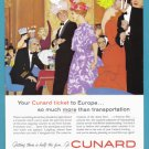 1960 CUNARD Cruise Line Vintage Advertisement