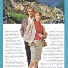 1965 PAN AM Airlines Machu Picchu Vintage Advertisement