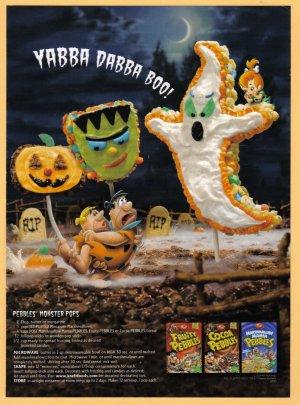 FLINTSTONES Post Cereal 2006 Halloween Print Ad