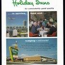 1963 HOLIDAY INN Travel Vintage Print Advertisement
