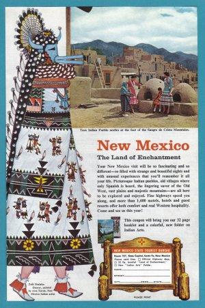 1950's New Mexico Travel Vintage Print Advertisement