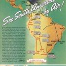 1940 PAN AM Airlines Vintage Print Advertisement