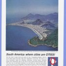 1963 PAN AM Vintage Print Advertisement