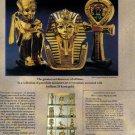 1990 KING TUT Franklin Mint Magazine Print Advertisement