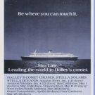 1985 Halley's Comet Sun Line Cruise Print Advertisement