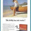 1948 ANSCO FILM Vintage Print Advertisement