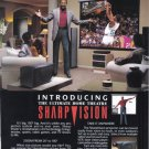 WILT CHAMBERLAIN SharpVision TV 1990 Magazine Print Ad