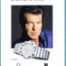 OMEGA WATCH Pierce Brosnan 2000 Magazine Print Ad