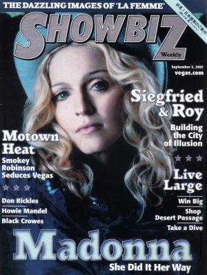 MADONNA Showbiz Magazine 2001 Cover Page