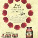 PAUL NEWMAN Spaghetti Sauce 2002 Magazine Print Ad
