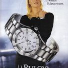 BULOVA Watch Rachel Hunter 2004 Magazine Print Ad