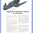 1945 United Aircraft WWII Era Vintage Print Advertisement