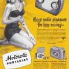1948 MOTOROLA Radio Vintage Print Advertisement