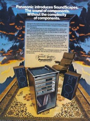 1981 PANASONIC Stereo Magazine Print Ad