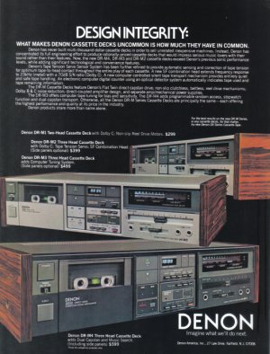 1984 DENON Stereo Tape Deck Magazine Print Ad