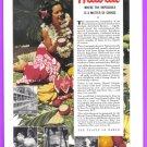 1940 HAWAII Travel Vintage Print Advertisement