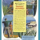 1948 Southern California Travel Vintage Print Ad