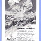 1943 Jacobs Aircraft Illustrated Vintage Print Ad