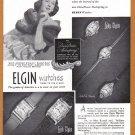1948 ELGIN Watches Magazine Print Ad
