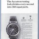 1964 ACUTRON Watch Magazine Print Ad