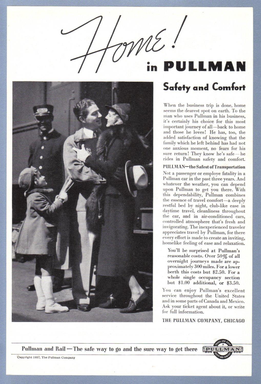 1937 PULLMAN Rail Service Magazine Ad