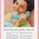 1959 BELL Telephone Vintage Magazine Print Ad