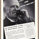 1937 BELL Telephone Vintage Magazine Print Ad