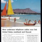 1957 BELL Telephone Vintage Magazine Print Ad